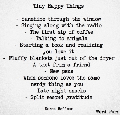 TINY HAPPY THINGS